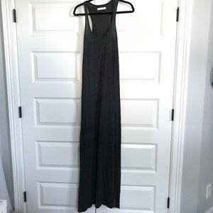 SPIRITUAL GANGSTER Gray Racerback Maxi Dress M/L
